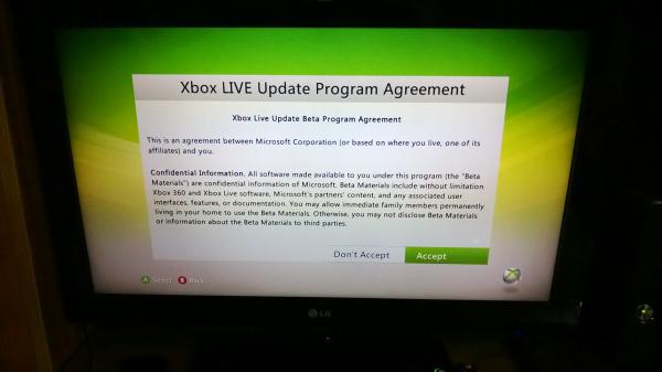 Xbox Beta NDA Signup