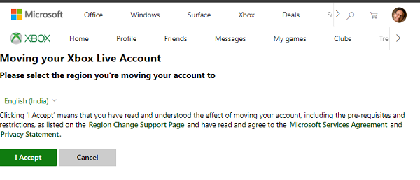Xbox MigraTE cHANGE cOUNTRY