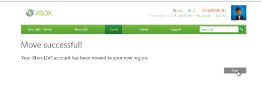 Xbox Migration Complete