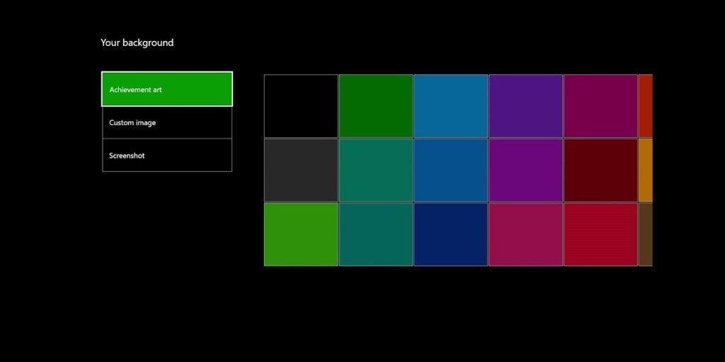 Xbox One Background Change Option