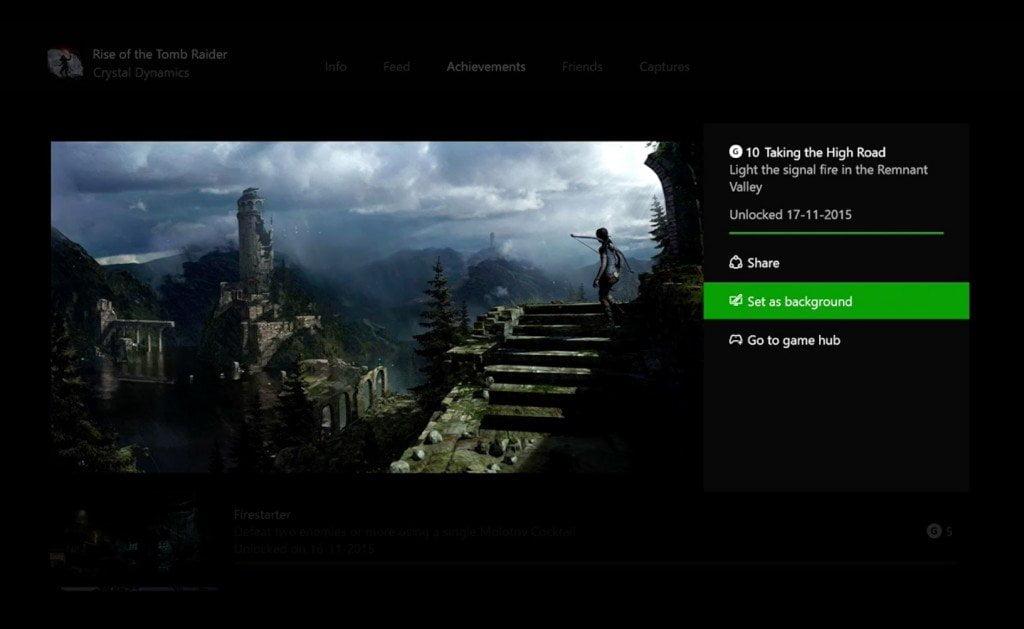 Xbox One Background Screen