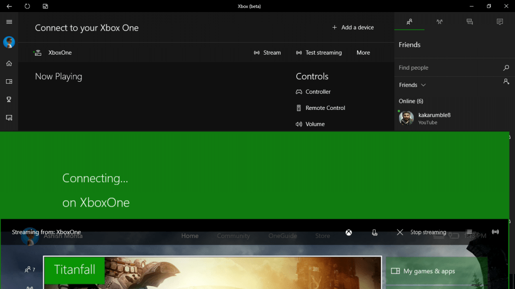 Xbox One Options from Xbox App