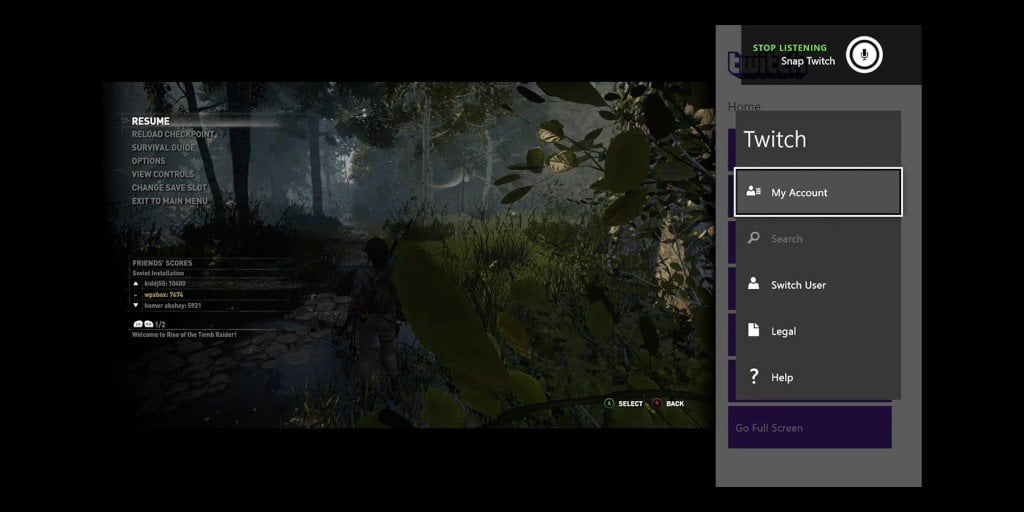 Snap Apps in Xbox One using Kinect Command