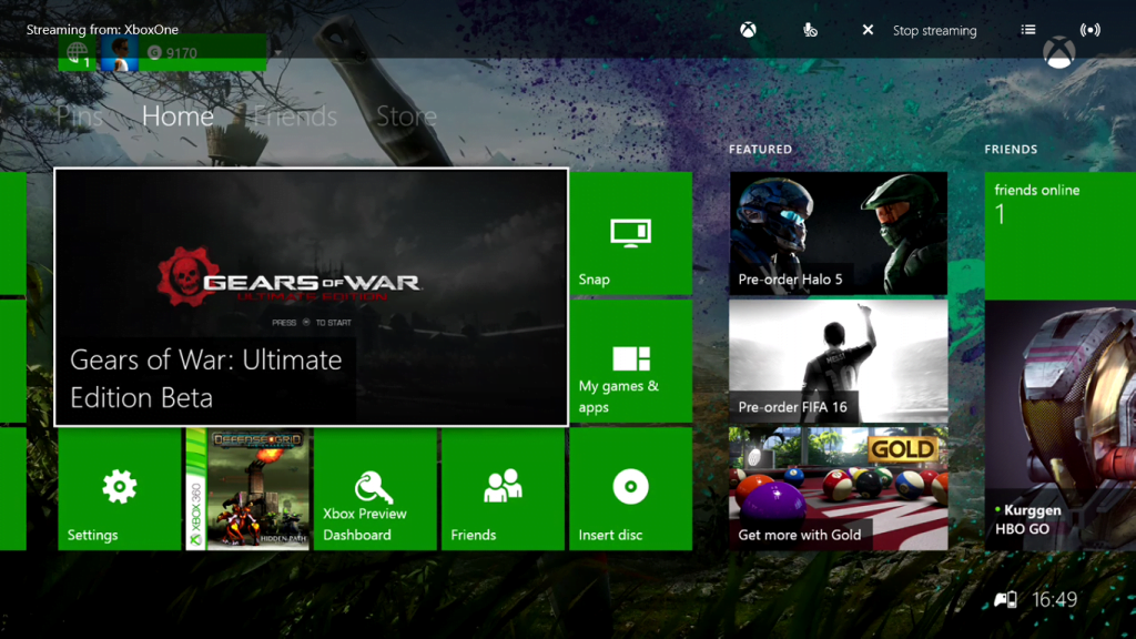 Xbox Streaming to Windows 10