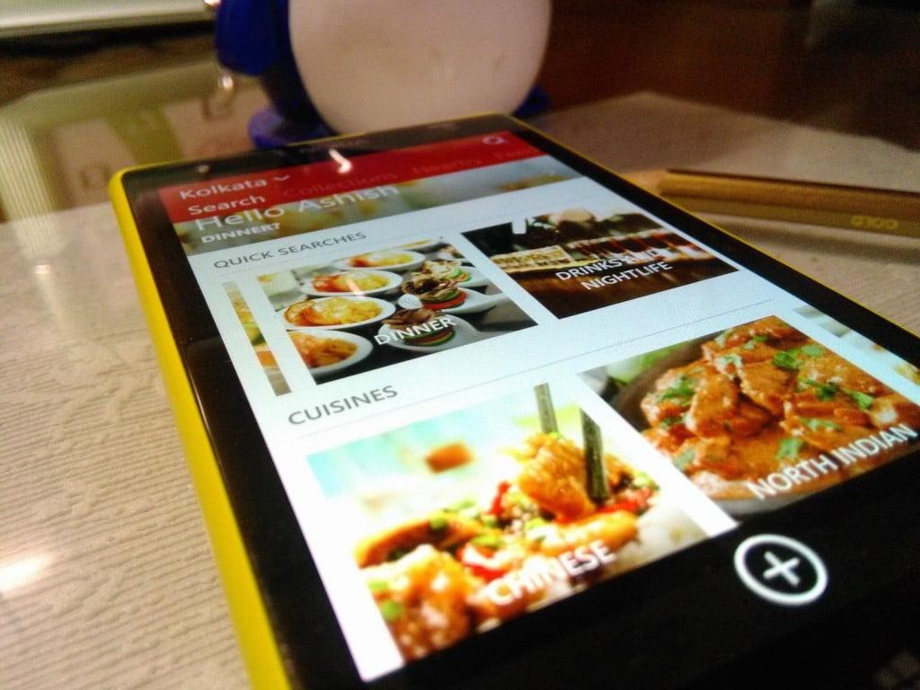 Zomato Windows Phone App