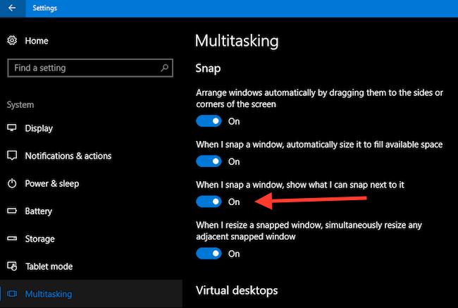 Multitasking Windows 10 Tweak