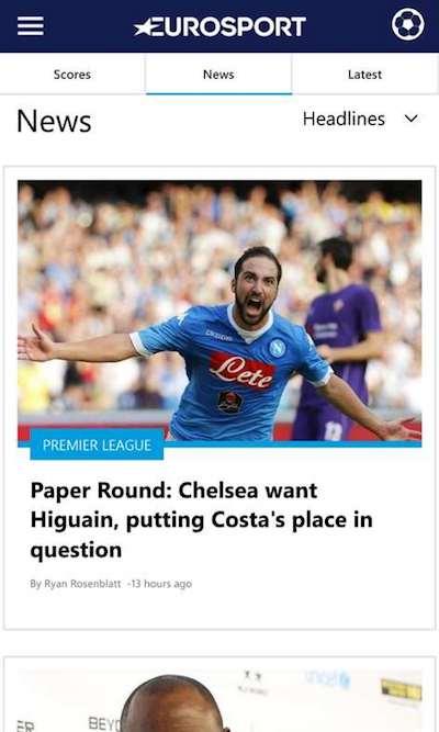Eurosport Sports App