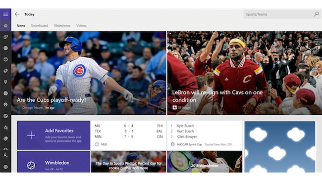 Eight Best Sports Apps for Windows 10