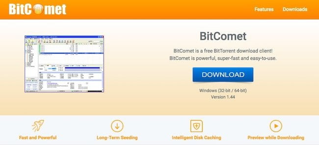 Bitcomet torrent client