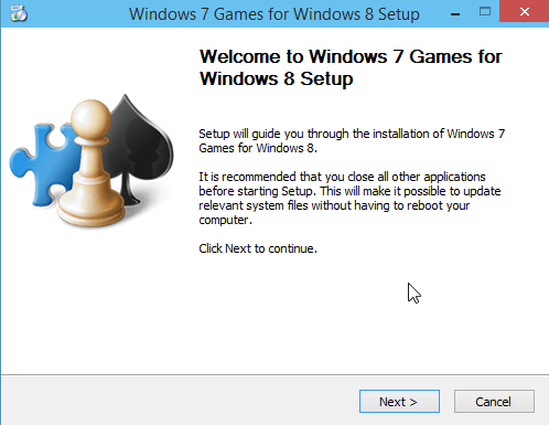 Install Windows 7 classic Games in Windows 10