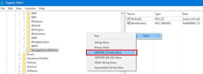 Create DWORD for DISK Protection