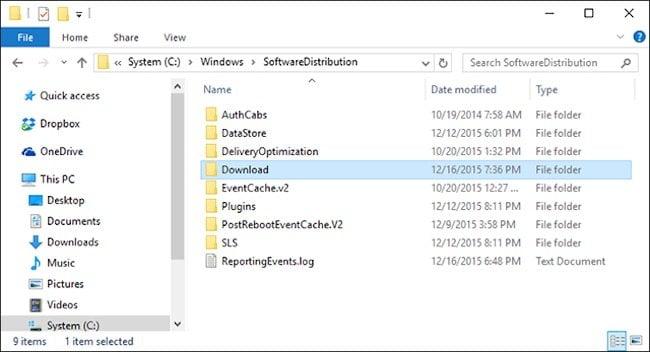 Windows Update Cache