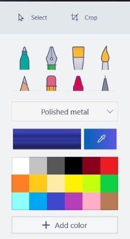 Paint 3D tools