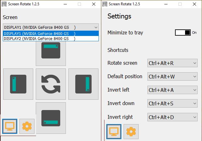 rotate software windows 10