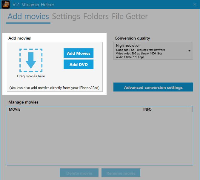 Stream Videos Windows VLC Android