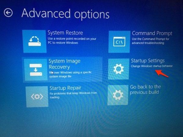 Change Startup Settings in Windows 10